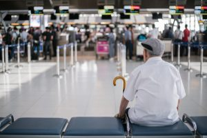 Man traveling with dementia
